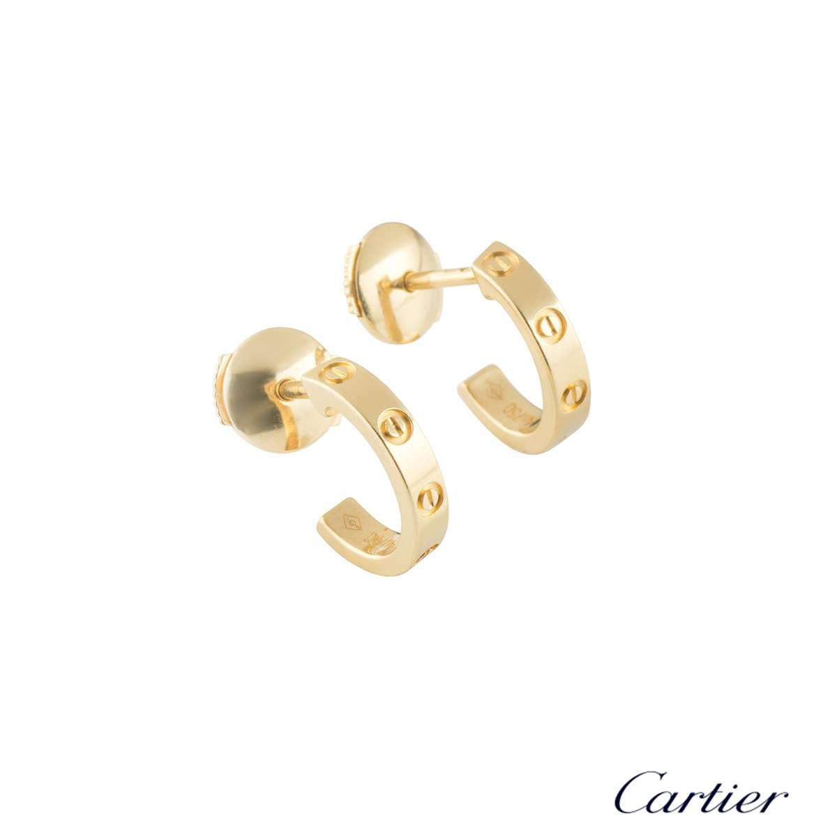 Cartier Yellow Gold Love Hoop Earrings